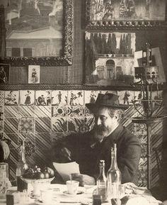 Rusinol in Els 4 Gats Vintage Photography, Creative Photography, Art Photography, Spanish Painters, Spanish Artists, Art Nouveau, Barcelona Catalonia, Art For Art Sake, Global Art