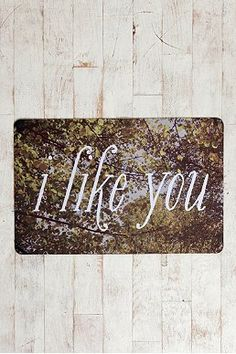 I Like You Trompe L'Oeil Floor Mat  |Get Cash Back at Urban Outfitters | EXCLUSIVELY at ourladyofshopping.com