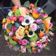 Possibly the girliest instagram #florist #flowers #bouquet #roses #spring #compact #flowerpower #BouquetsByKendall