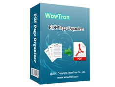 WowTron PDF Page Organizer V1.1.0 by WowTron Software, Inc.  WowTron PDF Page Organizer is a powerful pdf editing software which allows users to insert pdf page, images, blank page to current PDF document. Users can also delete, rotate, extract and re-orgainze PDF pages to create a new PDF document. Get it Free only on 6-7 of September!