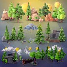 Low Poly Forest Collection