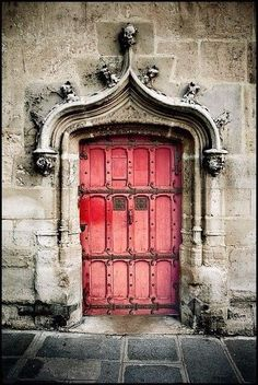 Door of Musee de Cluny, Paris, France