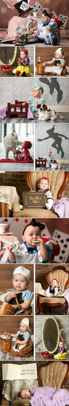 En un mundo de cuento.... Maravillosa idea para una sesión de bebé