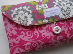 etsy - custom diaper changing clutch w/ waterproof pad and pocket for diapers & wipes