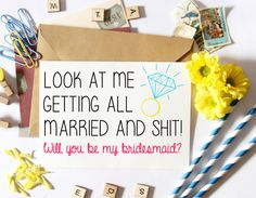 Funny Bridesmaid Proposal, Asking Card, Will You Be My, Wedding, Bridal Party