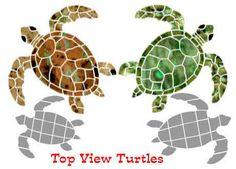 turtle templets | Pool Turtle Mosaics