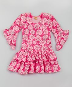 Another great find on #zulily! Pink & Rose Floral Drop-Waist Dress - Toddler & Girls by Mia Belle Baby #zulilyfinds