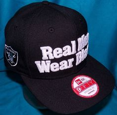 New Era 9Fifty Straight Outta Compton Real Men Wear Black Oakland Raiders  Hat 6bb3b4794