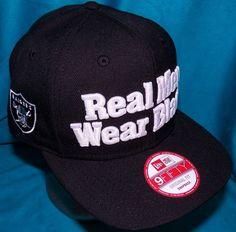 f268b3b3b32 New Era 9Fifty Straight Outta Compton Real Men Wear Black Oakland Raiders  Hat  NewEra