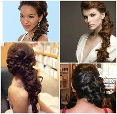 Add curls to your side braid! #sidebraid #weddinghair #weddingbraid
