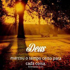 Deus marcou o tempo certo para cada coisa #Deus_Abencoe_Voce #Abencoe #Deus