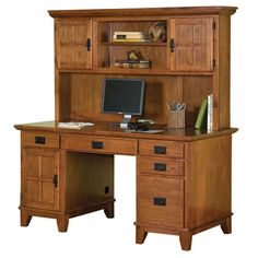 Brandon Computer Desk with Hutch