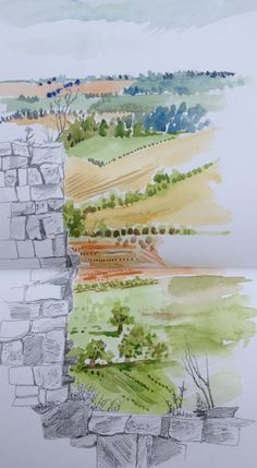 August, view from Beeston Castle Castle, Drawings, Sketches, Sketch, Drawing, Portrait, Draw, Resim, Castles