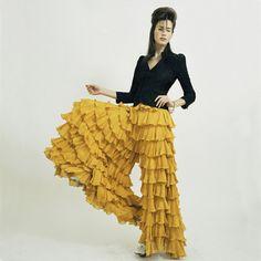 1980's Norma Kamali ruffled pants. She's an all time favorite of mine!