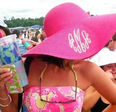 Monogrammed Floppy Hat Beach Hat