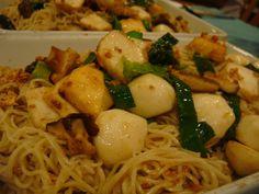 (Kuching's) Kolo Mee Noddle Recipes, Kuching, Food Staples, Spaghetti, Lunch, Asian, Meals, Chicken, Dinner