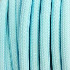 fil electrique tressé bleu