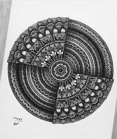 Likes, 21 Comments - Mandala Sharing Page✏ ( on Insta. Mandala Doodle, Mandala Drawing, Mandala Tattoo, Doodle Art, Zentangle Drawings, Zentangle Patterns, Zentangles, Doodle Patterns, Mandala Pattern