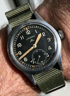 c7e87da81997 WWII Lemania military sub-seconds black dial for the MoD.