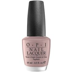 Over the Taupe Nail Lacquer (£12) ❤ liked on Polyvore featuring beauty products, nail care, nail polish, beauty, opi nail care, opi nail color, opi nail varnish, shiny nail polish and opi