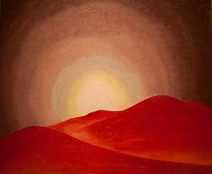 """""""La montagne rouge"""" Peinture de l'artiste américaine Georgia O'Keeffe"""