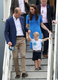 Prince William and Kate, Duke and Duchess of Cambridge and Prince George, July 2016.