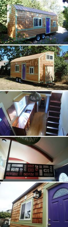 The Lilypad, a 206 sq ft tiny house on wheels in Boulder, CO.