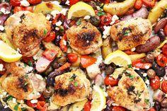 Mediterranean Roasted Chicken Thighs