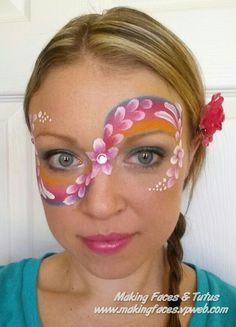 Fast flowers face painting tutorial by Cameron Garrett