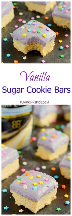 These Vanilla Sugar Cookie Bars are soft, chewy, and loaded with the ...