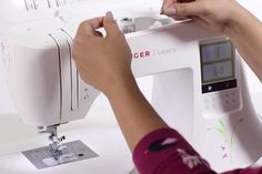 Singer Sewing & Embroidery Machine two in one feature will save you hundreds of dollars, so take advantage of what this machine has to offer. Embroidery Machine Reviews, Sewing Projects, Singer, Good Things, Fabric, Sewing Machines, Sewing Patterns, Style, Tejido