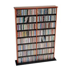 Prepac Cherry Transitional Engineered Wood Media Cabinet at Lowe's. Store any combination of media with the library-style double width wall storage. This unit's adjustable shelves, separated by a central divider,
