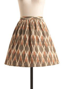 Fair Trade Secret Skirt in Tan by Mata Traders