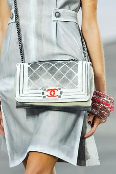 I wish I could see the entire dress, but what I can see is adorable:Chanel, Paris, Spring 2014
