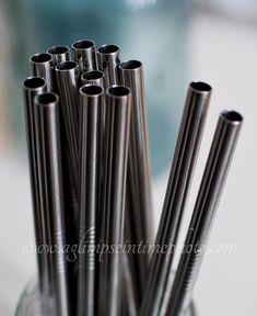Set of 4 Wide Eco Friendly Stainless Steel by SwissMissCloset, $7.95