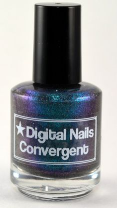 Convergent: A Digital Nails handmade Color Shift Duochrome nail lacquer inspired by Pollia Condensata