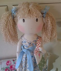 Handmade Collectable Rag Doll LILY World of Little Sweeties