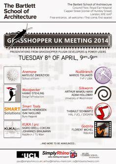 Rhino News, etc.: Grasshopper UK User Meeting on the 8th April at th...