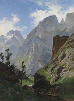 La canal de Mancorbo en los Picos de Europa. Carlos de Hae. Óleo sobre lienzo 168 x 123 cm. 1876.
