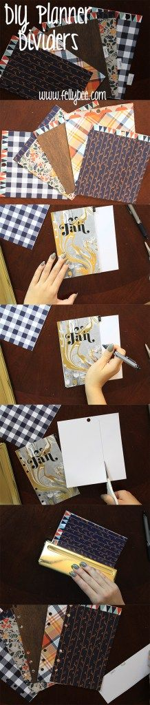 DIY planner dividers. A much cheaper option than buying new ones all the time!