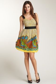 Floral Zip Empire Dress