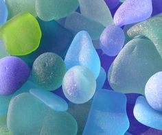 Beautiful blues--sea glass
