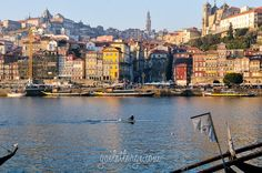 the Douro River and Ribeira (Porto, Portugal)