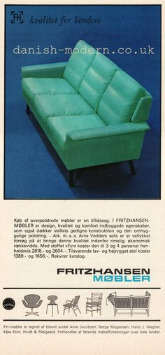 Arne Vodder for Fritz Hansen 1968