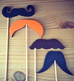 Now we can all imitate Basil or Manuel! Hand Painted Wooden Moustaches, via Etsy.