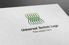 Universal Technic Logo by BdThemes on @creativemarket