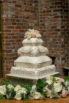 pillow cake @Mandy Bryant Bryant Bryant Bryant Dewey Seasons Bridal