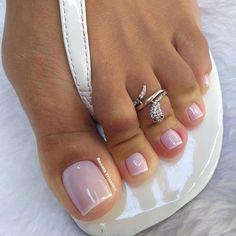 Gel Toe Nails, Acrylic Toe Nails, Feet Nails, Toe Nail Art, Pink Toe Nails, Gel Toes, Diy Nails, White Toenails, Pink Toes