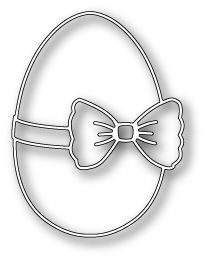 Poppy Stamp Dies - Memory Box - Ribbon and Bow Egg now available at The Rubber Buggy Metal Crafts, Wood Crafts, Easter Crafts, Christmas Crafts, Scroll Saw Patterns Free, Memory Box Dies, Paper Cutting, Die Cutting, Cutting Files