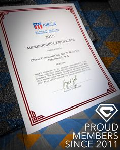 We have been proud members of the NRCA since 2011.